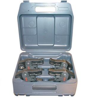 Пресс-клещи V 15 - 18 - 22 - 28 мм в пластмассовом кейсе